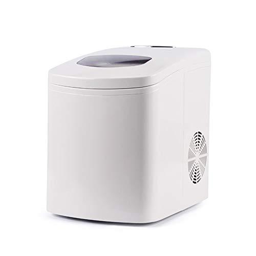 Tragbare Eismaschine, Kompakte Und Effiziente Schnelle Eismaschine, 1,7 L, 9 EiswüRfel In 9 Minuten, 33 Pfund EIS In 24 Stunden, Runde EiswüRfel - Weiß