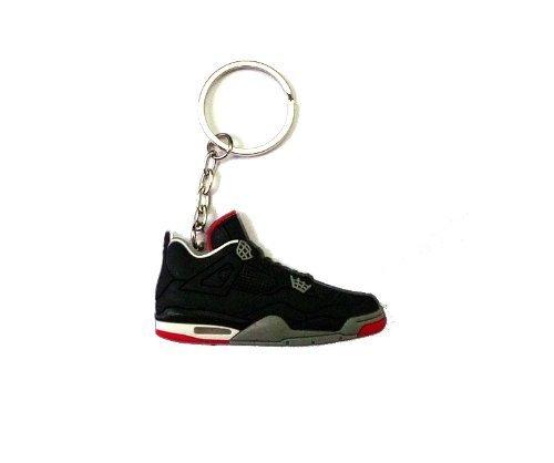 Jordan IV/4 Bred Black/Red LS Sneakers Shoes Keychain Keyring AJ 23 Retro by DarrellsWorld