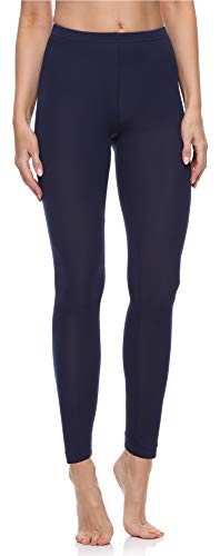 Merry Style Damen Lange Leggings aus Baumwolle MS10-198 (Dunkelblau, XL)