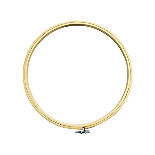 Madera redonda marco punto cruz anillo aro