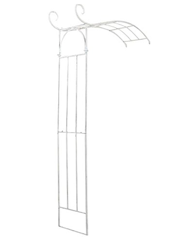Arche à Rosiers en fer coloris blanc antique - 230 x 155 x 40 cm - PEGANE -