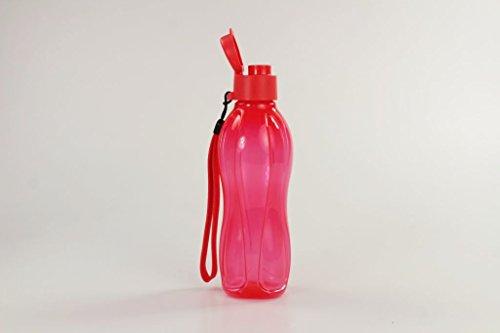 TUPPERWARE To Go Eco 500 ml mit einem Band erdbeerrot Trinkflasche Ecoflasche 15308