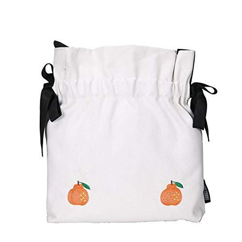 HKDUC Mode Kleine Stofftasche Casual Style Fresh Literary Einzelne Schulter Diagonal Canvas Taschen...