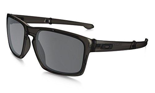 Oakley Herren Sonnenbrille Sliver Grau (Matte Grey Ink/Blackiridium), 57