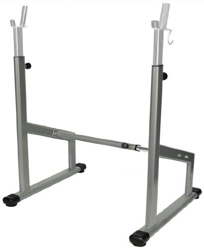 Pro verstellbarer Kniebeugenständer silber - Oval-Line Free Rack / Langhantel Ablage BCA-94