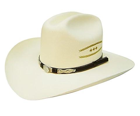 Modestone Taditional Bangora Rodeo Straw Chapeaux Cowboy White