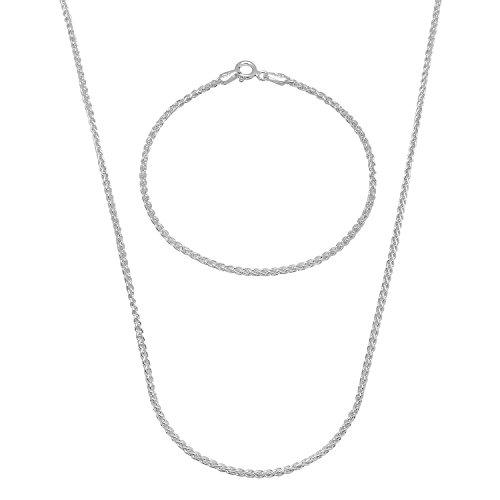 19mm-solid-925-sterling-silver-wheat-61-cm-chain-20-cm-bracelet-set