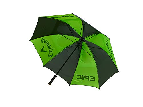Callaway Parapluie de Golf pour Homme avec Double auvent Vert/Blanc/Gris Anthracite Réglage Manuel.