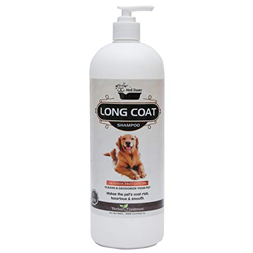 Medilogy Biotech Dog Shampoo Long Coat 1 Litre for Shiny Luxurious Smooth Healthy Coat Texture
