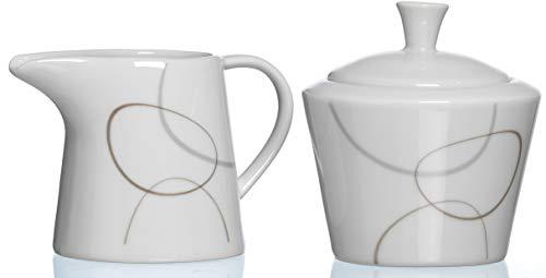 Ritzenhoff & Breker Zuckerdose und Milchkännchen Alina Marron, 2-teilig