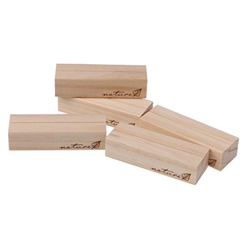 MagiDeal Kartenhalter aus Holz Memo Halter Hinweis Clip Hochzeit Name Karte Kartenhalter - 5er - Kräftiges Holz, 7 x 2,3 x 1,7cm - Foto-hinweis-card-inhaber