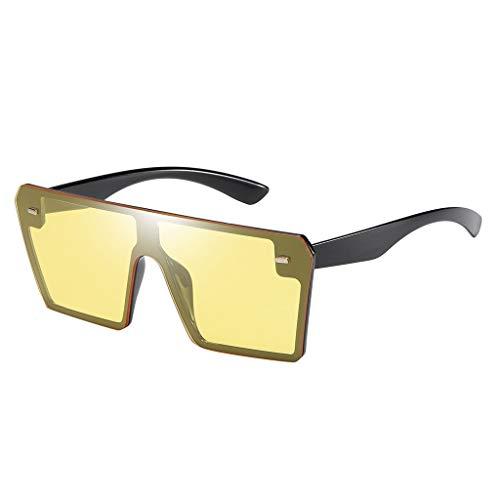 Auifor ✿Mode Mann Frauen Übergröße Platz Sonnenbrille Brille Shades Vintage Retro Style