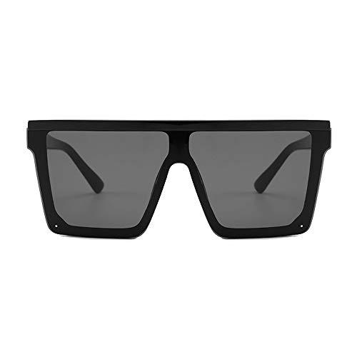Eye-nak Black Square Shades Sonnenbrille Schwarzen Rahmen UV400 - Unisex Damen und Herren (C1)