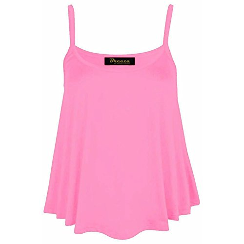 dreamzandjoyz Damen Top Gr. M/L, babyrosa (Tank Ribbed Top Basic Cotton)