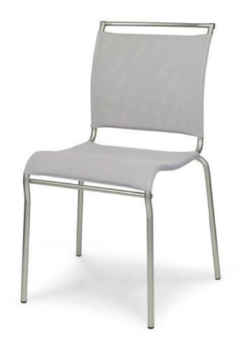 Calligaris Air Sitz Polsterung gepolsterte Rückenlehne Stuhl Restaurant und Eßzimmer-Stühle, Restaurant und Esszimmerstuhl, gepolsterter Sitz, Polyester, PVC, schwarz, gepolsterte Rückenlehne, Polyester, Polyvinyl chloride (PVC), Schwarz)