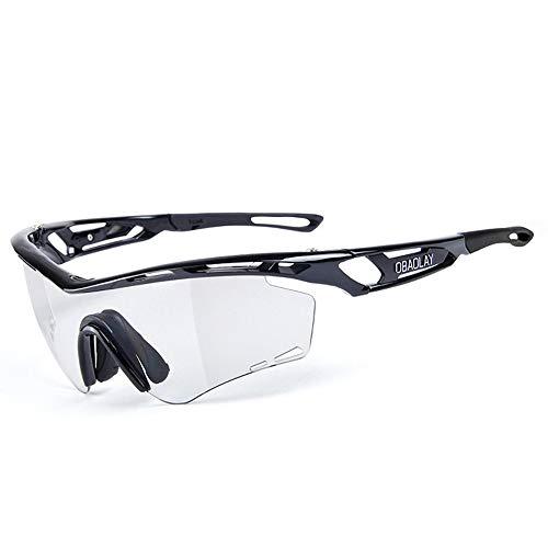 Fengbingl Sport-Sonnenbrillen Radfahren polarisierte Sonnenbrille im Freien intelligente Myopie Discoloration Radfahren Brille polarisierte Licht für Männer Frauen beim Radfahren, Angeln, Laufen,