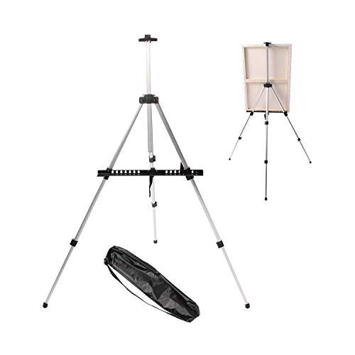 Aluminium Art Table Staffelei Tri-Pod Display mit Gummifüßen schwarz Staffelei -619 Display-pod