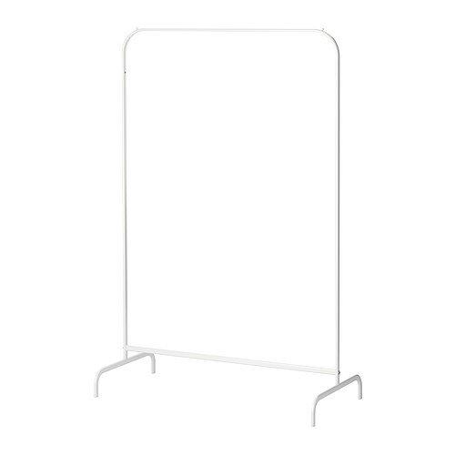 """IKEA Kleiderständer """"MULIG"""" Garderobenständer in weiß - aus Stahl - BxTxH 99 x 46 x 151 cm - feuchtraumgeeignet - max Belastung: 20 kg"""