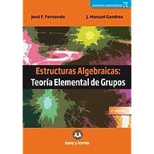 Estructuras algebraicas: teoría elemental de grupos