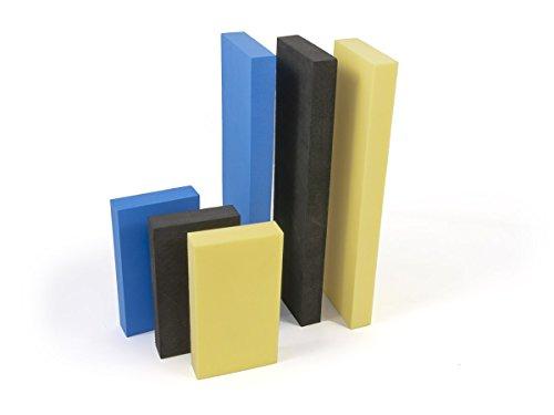 Benbow 6X Schaum-Schleifklötze Gelb Blau Schwarz 114x62x18mm 220x62x18mm Schleifblock eilblock Polierblock