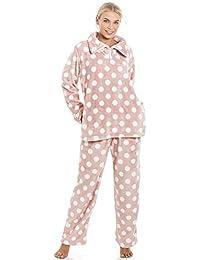 Camille Womens Various Colour   Print Womens Long Sleve Full Length Soft  Fleece Pyjama Sets 8ef9587e1