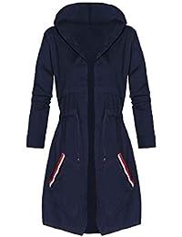 56c797f799c80 Femme Trench avec À Capuche Élégant Automne Hiver Spécial Style Parka  Bouffant Coupe Vent Manteau Coat Jacket Longues Loisir…