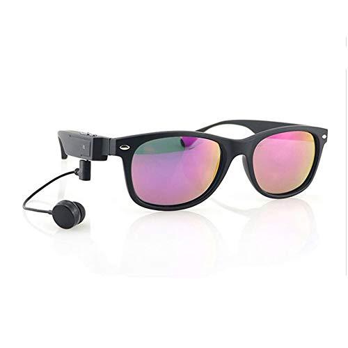 KCaNaMgAl Intelligente Bluetooth-Brille, intelligente Sportsonnenbrille, Stereokopfhörer, Sonnenbrille, Polarisatoren für Outdoor-Sportarten, Radfahren,Red