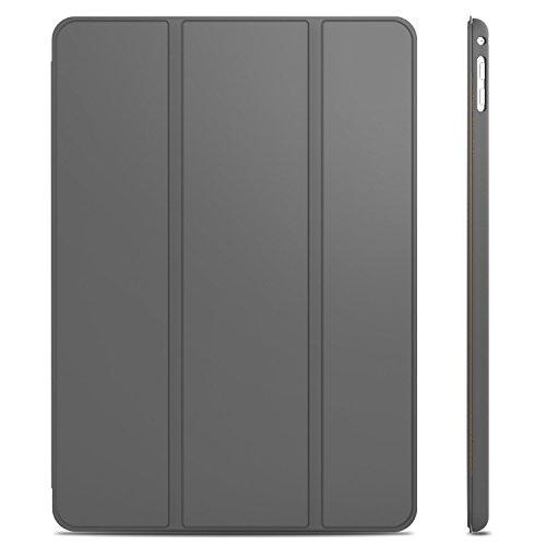JETech Hülle für iPad Air 2, Schutzhülle mit Ständer Funktion und Auto Schlaf/Wachen, Dunkel Grau -