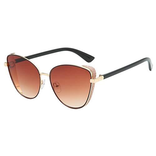 EUCoo New Metallrahmen Sonnenbrille Dame Katzenaugen Mode Sonnenbrille Retro Sonnenbrille