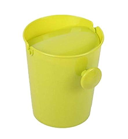 Creative Fashionable Mini Desktop Trash/Wastebasket, Green Round