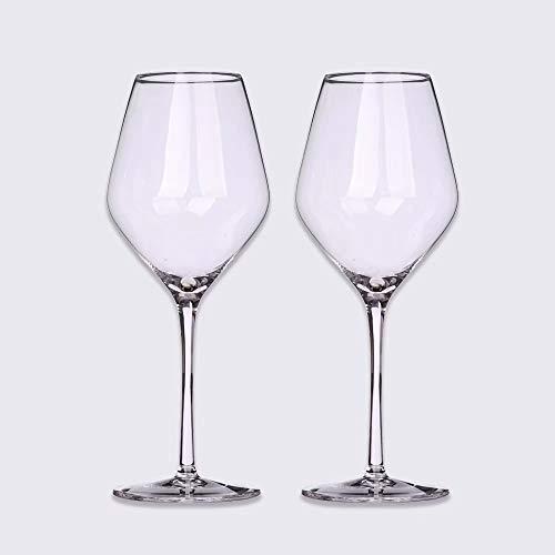 Transparentes Bleifreies Kristallglas Weinglas Schlichtes und Stilvolles Mundgeblasenes Burgunder-Weinglas 2er-Set Geeignet für Verschiedene Weinsorten Pinot Noir, Gamay, Zweigelt, St. Laurent usw
