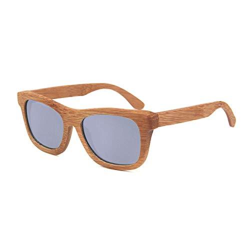 Naudamp Bamboo Polarisierte Sonnenbrillen Männer Frauen Holz Gläser für Wassersport und Outdoor-Aktivitäten