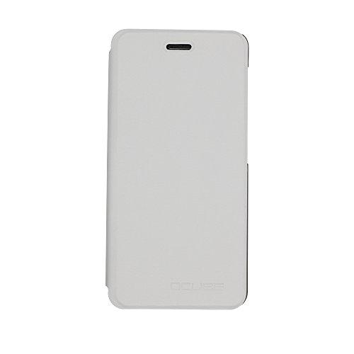iBetter Vernee Mars Hülle, Schutzhülle Bookstyle für Vernee Mars Smartphone Flip Standfunktion Cover Hülle Case, Weiß