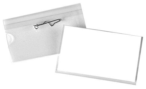 pavo-premium-targhette-per-il-nome-100-pz-con-spilla-ondulata-40-x-75-mm
