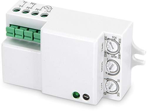 Einbau HF Bewegungsmelder 360° mit Dämmerungssensor 230V - LED geeignet - zum Einbau in Leuchten