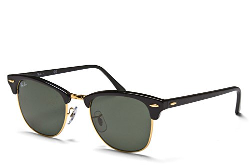 Ray-Ban 3016 Clubmaster Classic Sunglasses - Black/Gold