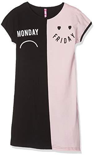 Lina pink ef.lund.li camicia da notte bambina, noir/nude, 14 anni