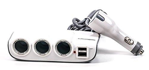 r 3-fach, geschaltet, beleuchtet, Betriebskontrollleuchte, 2 x USB, 12/24V, 2A ()