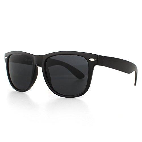 Distressed Blues Matt matte Sonnenbrille im Retro Wayfarer Stil 80er schwarz