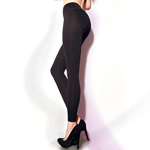 Mallas modeladoras para mujer con efecto de realce en los glúteos negro S