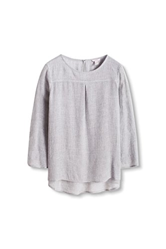 ESPRIT Damen Bluse Grau (light Grey 040)