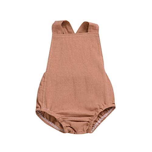 Kinder Mädchen Jungs Rückenfrei Solide Straps Strampler Overall (Kostüm Mädchen, Gefängnis)
