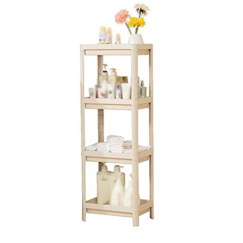 S&RL Ablagefach Regal Gewürzregal Badezimmer Kunststoff Standwaschbecken Ablage für Küche und Verschiedene Abstellräume, Beige, 3-stufig (Badezimmer Standwaschbecken)