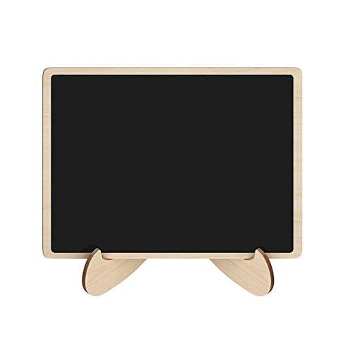 el Holz-Vierecks-Form Brett Hochzeit Tischdekoration Nachricht Hinweis Kleine Tafel ()