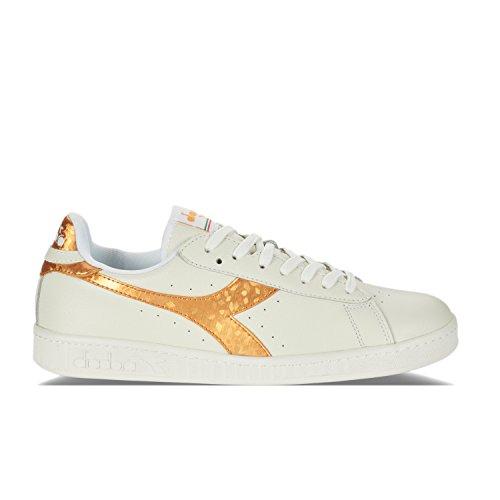 Game Aqw7zp8x Diadora Sneakers White Homme Basses Metallic Gold Z47Owq