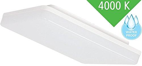 Ultraslim LED 24W IP44 Aufbau Panel eckig - 2050lm - Feuchtraum Deckenleuchte 230V - tagesweiß (4000 K)