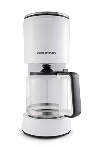Grundig KM 5860 Kaffeemaschine, 1000W, Aroma Funktion, 10 Tassen(1,25l), 1000, Weiß/Schwarz