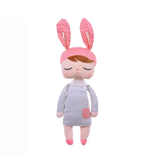 Lalang Baby Stofftier Spielzeug Stoffspielzeug Baumwolle Gefüllte Kaninchen Plüschtier (grau) (Gefüllte Große Hase)