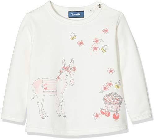 Sanetta Baby-Mädchen Sweatshirt, Beige (Ivory 1829), 74 (Herstellergröße: 074) Baby-sweatshirt