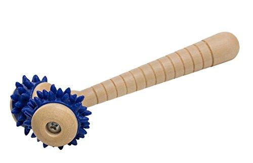 Massageroller Massagegerät Handroller Holz mit 2 Rollen *Top-Qualität*